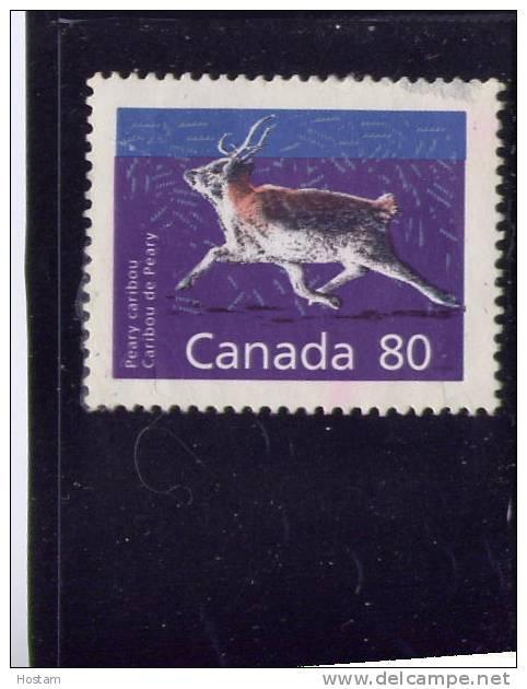 CANADA, 1989, # 1180c, MAMMAL DEFINITIVES  LOW VALUE: CARIBOU  Used - Oblitérés