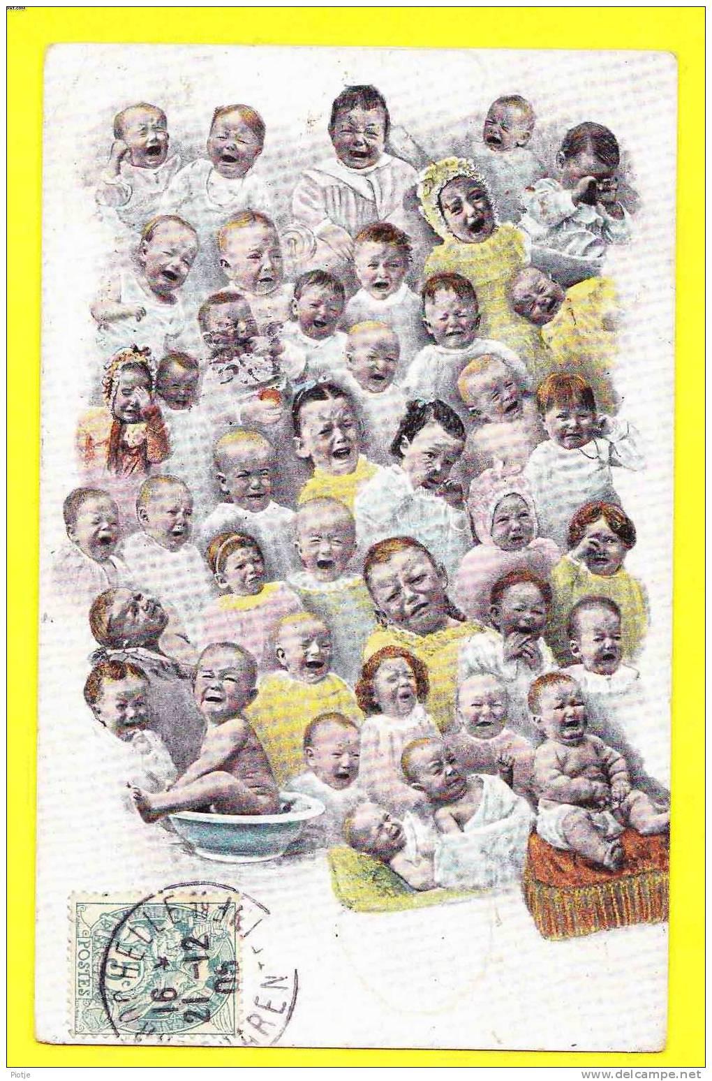 * Fantasie - Fantaisie - Fantasy (Bébés Multiples) * (T.E.L. S 952) Bébé, Baby, Enfant, Pispot, Cry, Pleurer, Wenen - Nouvel An