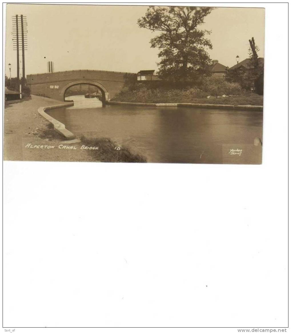 (REAL PHOTO POSTCARD) - ALPERTON - CANAL BRIDGE - (GRAND UNION CANAL)  - A574 - London Suburbs