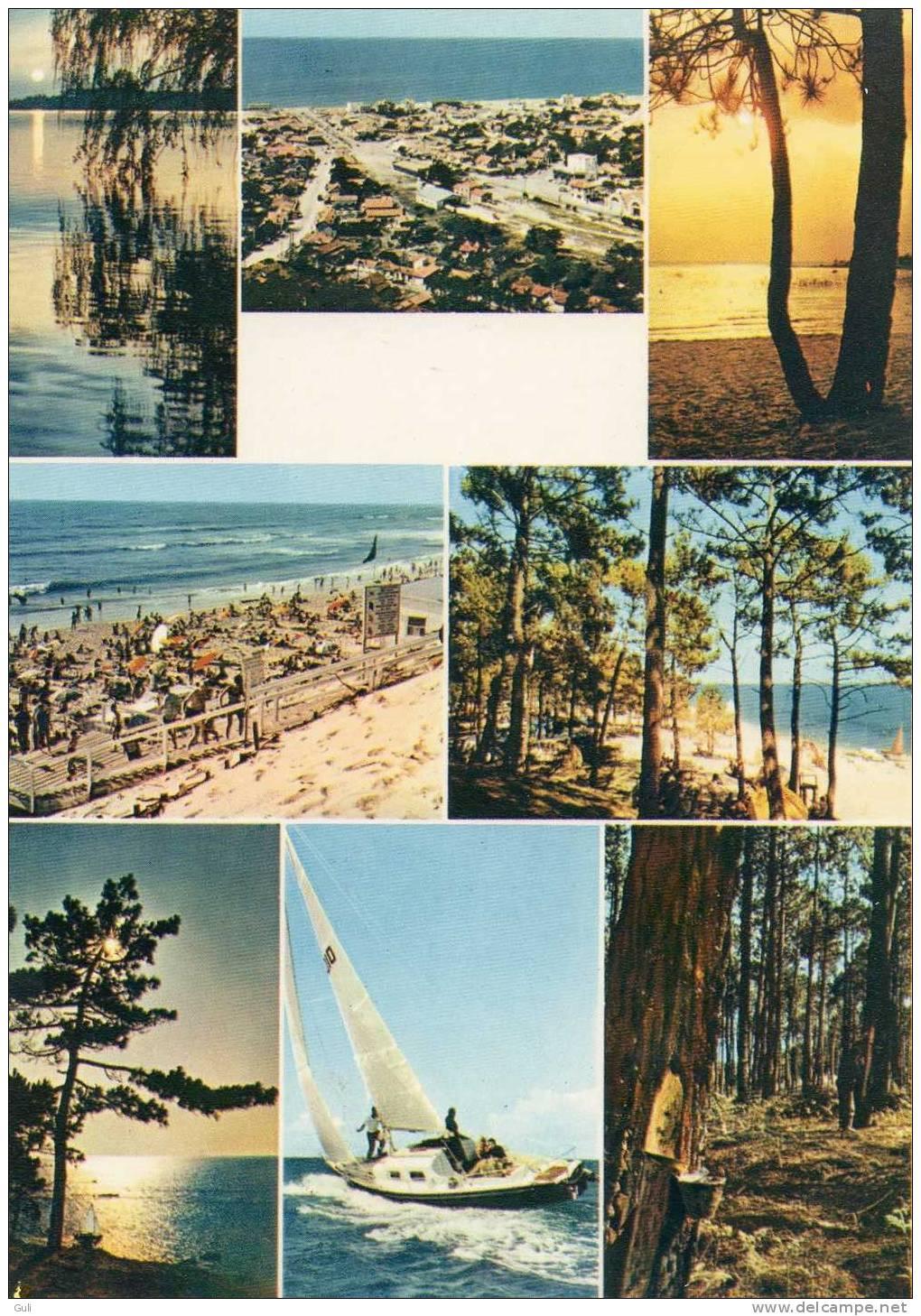 33 Gironde -LACANAU - Océan Lac Forêt - Carte 2 Volets Format 15 X 10.5 Cms Pliée Et  21 X 10.5 Cms Dépliée - Non Classés