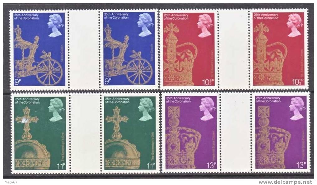 Great Britain 835-8 X 2  GUTTERS    **  QE II  CORONATION - 1952-.... (Elizabeth II)