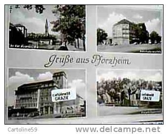 GERMANY PFORZHEIM VUES GRUSS  SALUTI V1954 CY23879 - Pforzheim