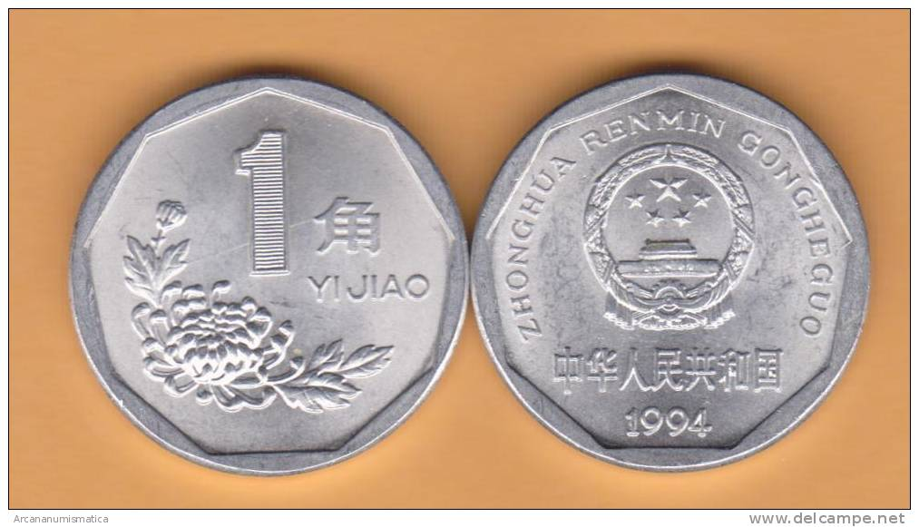 CHINA  1  JIAO  1.994   ALUMINIO   KM#328     SC/UNC    DL-9807 - China