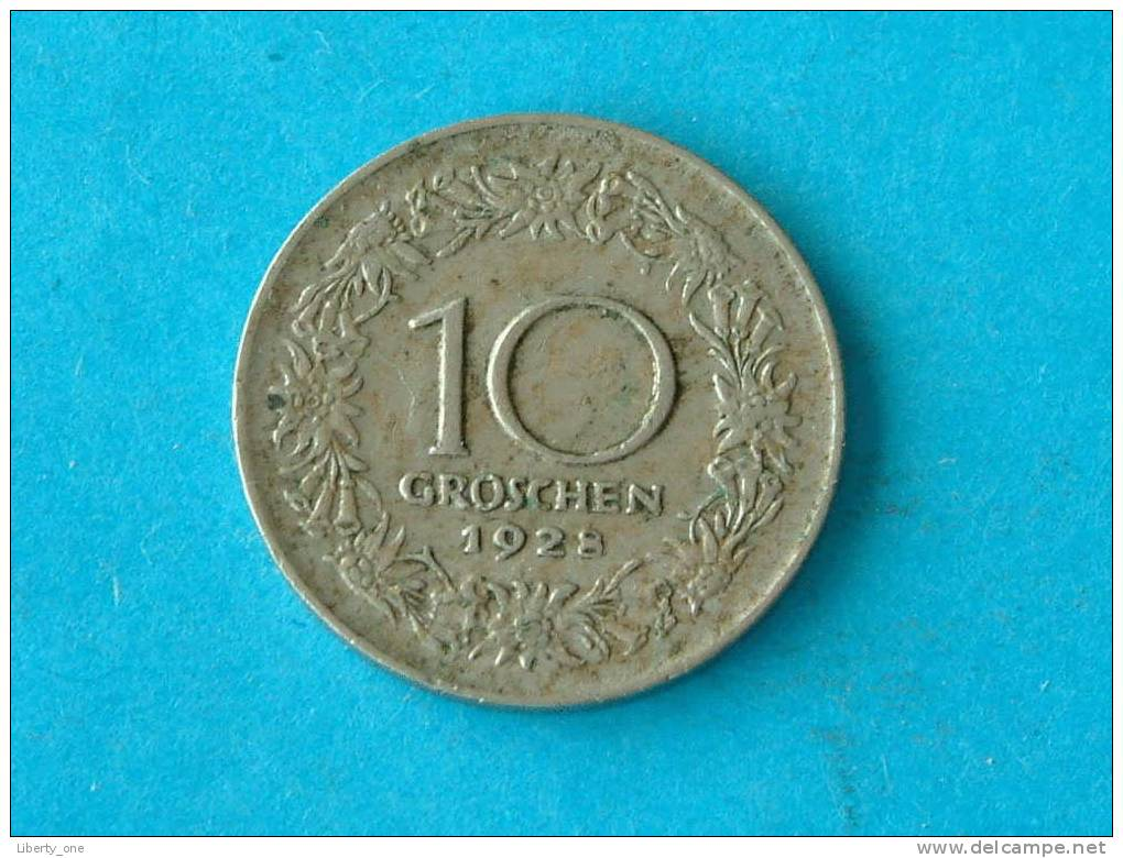 1928 - 10 GROSCHEN / KM 2838  ( For Grade, Please See Photo ) !! - Autriche