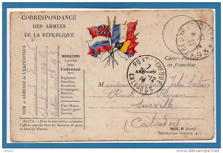 Franchise Militaire - Marcophilie (Lettres)
