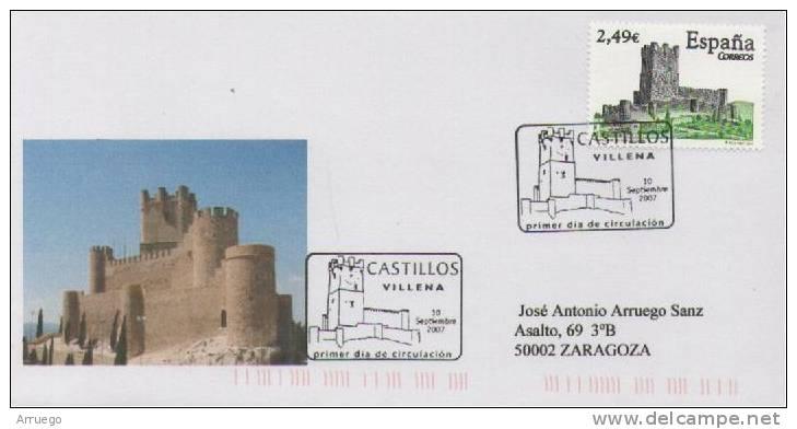 SPAIN. FDC. VILLENA CASTLE.2007 - FDC
