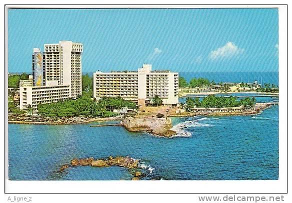 Ref 27:  Cpsm Puerto Rico San Juan Caribe Hilton Hotel - Puerto Rico