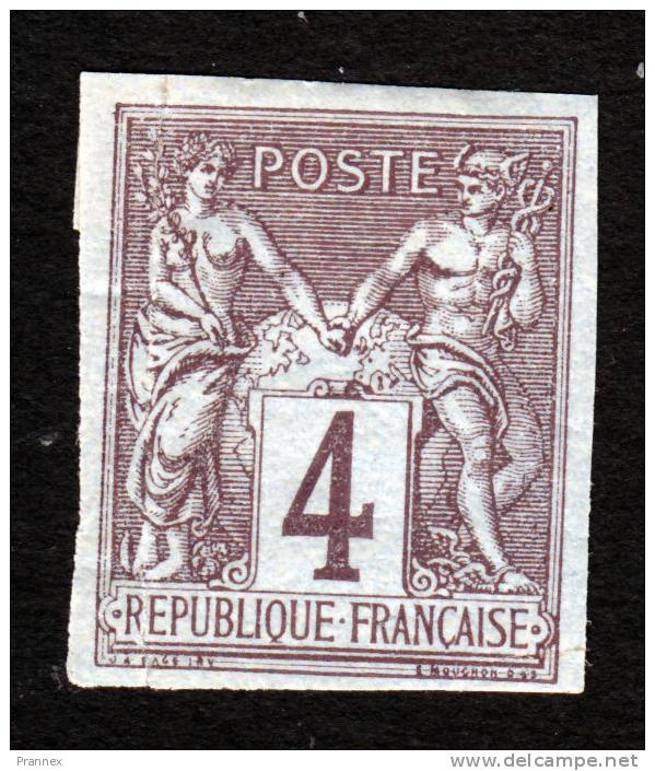 French Colonies, Scott #40, Mint Hinged, Peace And Commerce, Issued 1878 - Sage