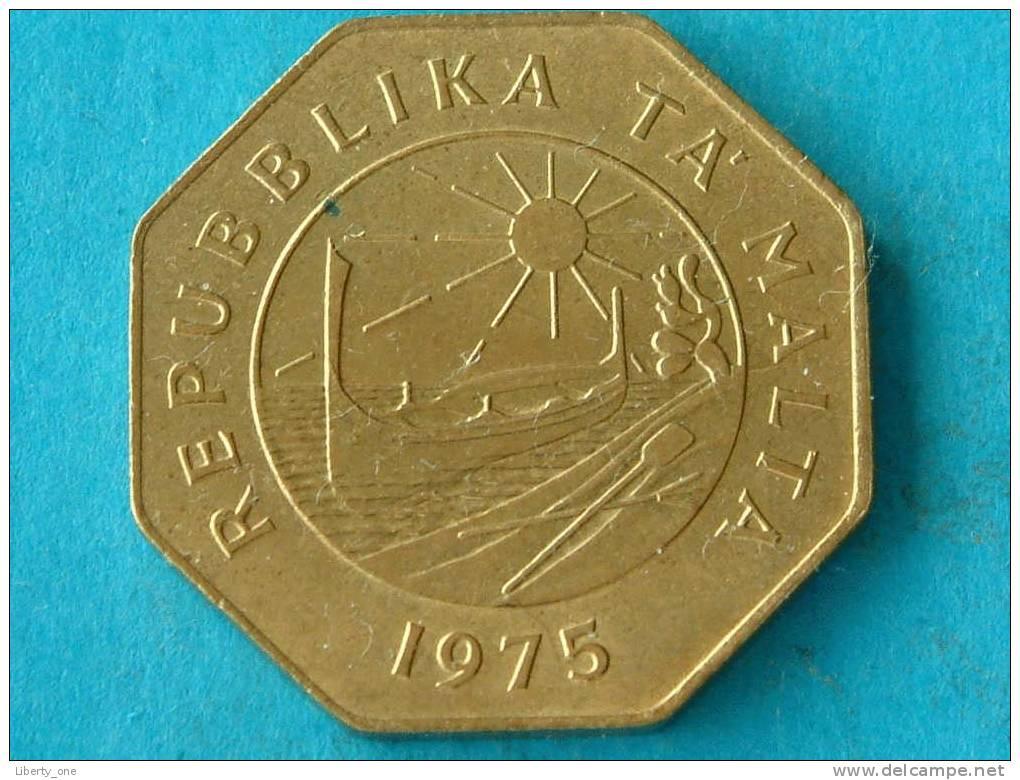 1975 - 25 CENTS - KM 29 ( For Grade, Please See Photo ) ! - Malte