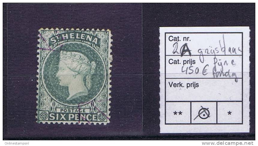 St Helena Michel Nr 2 A Used, Cat Value Eur 450 - Sint-Helena
