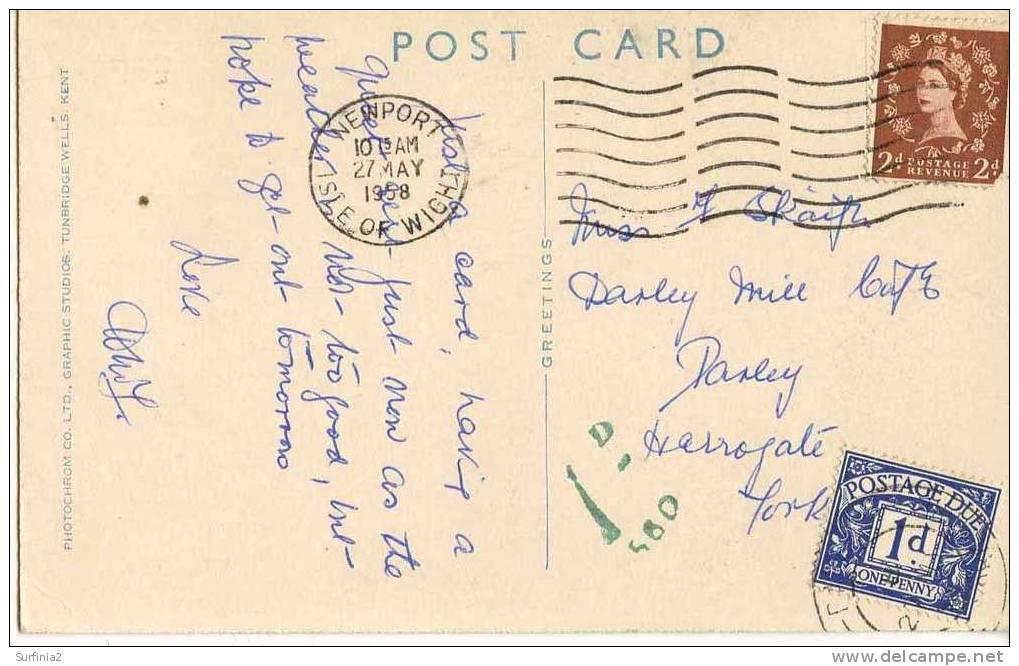 IOW - SHANKLIN -  CHINE - 1958 - POSTAGE DUE  Iow79 - England