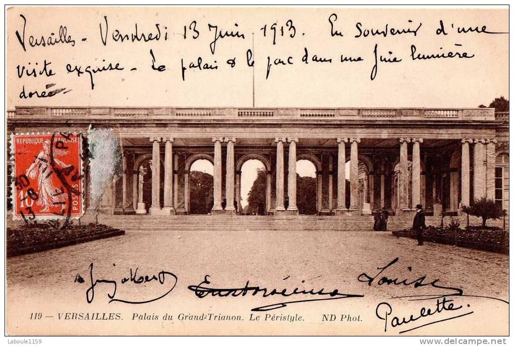 """VERSAILLES : """"Palais Du Grand Trianon - Le Péristyle """" - ND Photo N° 119 - Versailles (Château)"""