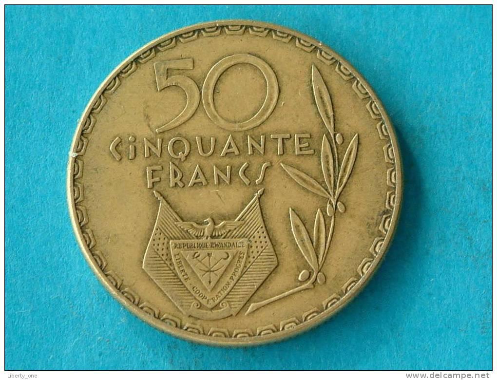 1977 - 50 FRANCS / KM 16 ( For Grade, Please See Photo ) !! - Rwanda