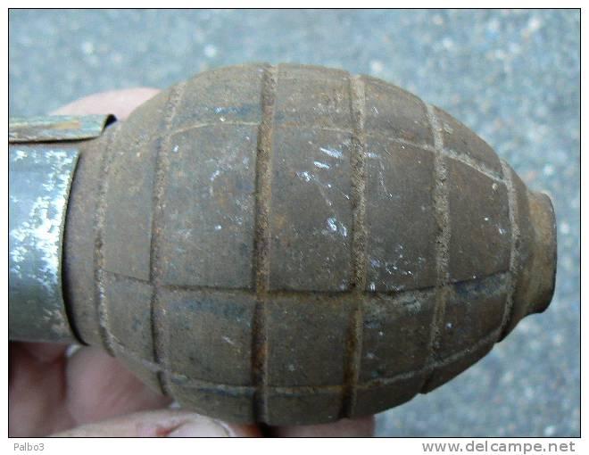 Grenade Citron Foug Avec Bouchon Francaise Reglementaire Poilus Ww1 14 18 - 1914-18