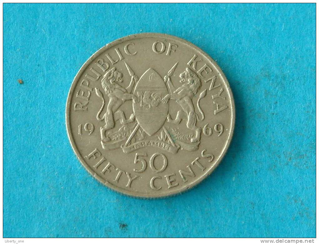 1969 - 50 CENTS - KM 13 ( For Grade, Please See Photo ) ! - Kenya