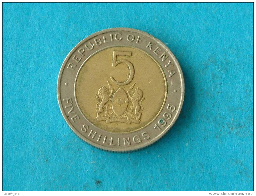 1995 - FIVE SHILLINGS - KM 30 ( For Grade, Please See Photo ) ! - Kenya