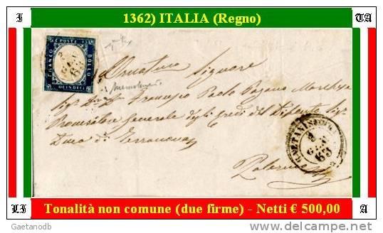 Caltanissetta-01362 - 1863 - Sassone: N.11 (Secondo Giorno D´uso) - Privo Di Difetti Occulti. - Storia Postale