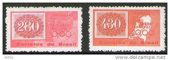 Brazil 1961 French And Brazilian Map, MNH (**) - Brazil