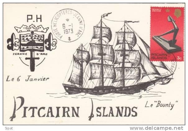 PORTE HELICOPTERES JEANNE D' ARC - PITCAIRN ISLANDS - 6 / 1 / 1973 - Guerra