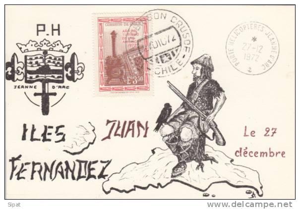 PORTE HELICOPTERES JEANNE D' ARC - ILES JUAN FERNANDEZ  - 27 / 12 / 1972 - Guerra