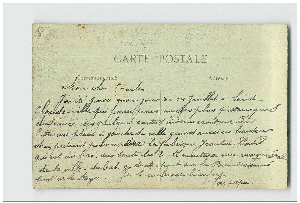 245 ) SAINT-CLAUDE. La Maison Du Peuple. Manufacture JEANTET-DAVID .Année: 19** .Exp/Dest: * - Saint Claude