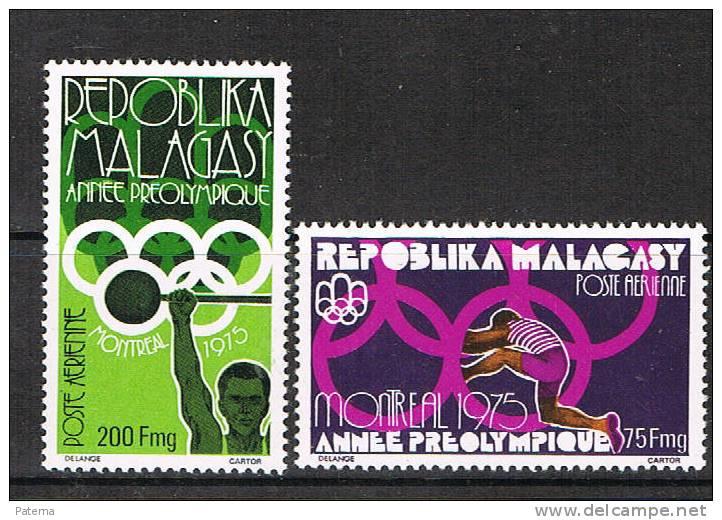 Madagascar 1975  Nº   158-159 A,  Año Preolimpico, Anne Preolympique - Madagascar (1960-...)