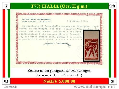 Italia-F00077 - Occup. Tedesca: Montenegro