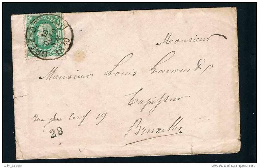 Belgique 1880 Lettre Affr. N°30 Càd GREZ-DOICEAU. - 1869-1883 Léopold II