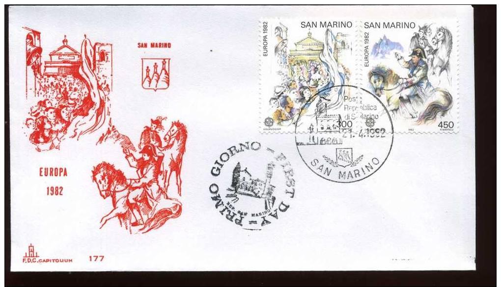 SAN MARINO 1982 - FDC -  EUROPA CEPT - FDC
