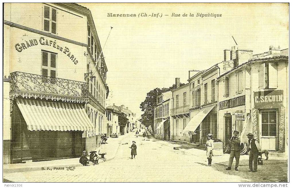 CPA  MARENNES, Rue De La République  2456 - Non Classificati
