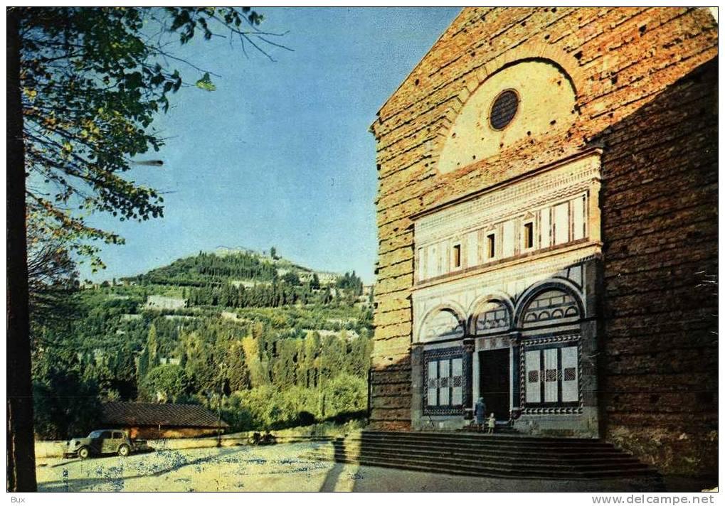 COLLEGIO BADIA FIESOLANA  FIRENZE  VIAGGIATA COME DA FOTO LEGGERE PIEGHE - Firenze (Florence)