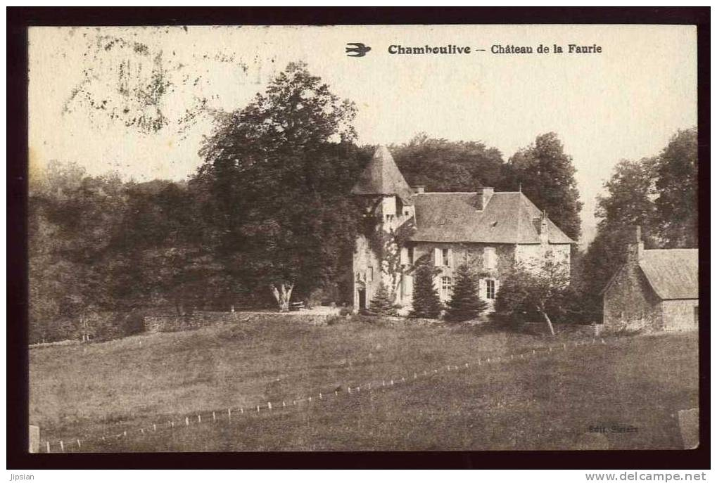 Cpa Du 19  Chamboulive Château De La Faurie   ABE25 - Non Classés