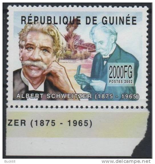 GUINEE Poste 2002 ** MNH : Albert SCHWEITZER Kaysersberg Lambaréné Gabon NOBEL Paix - Albert Schweitzer