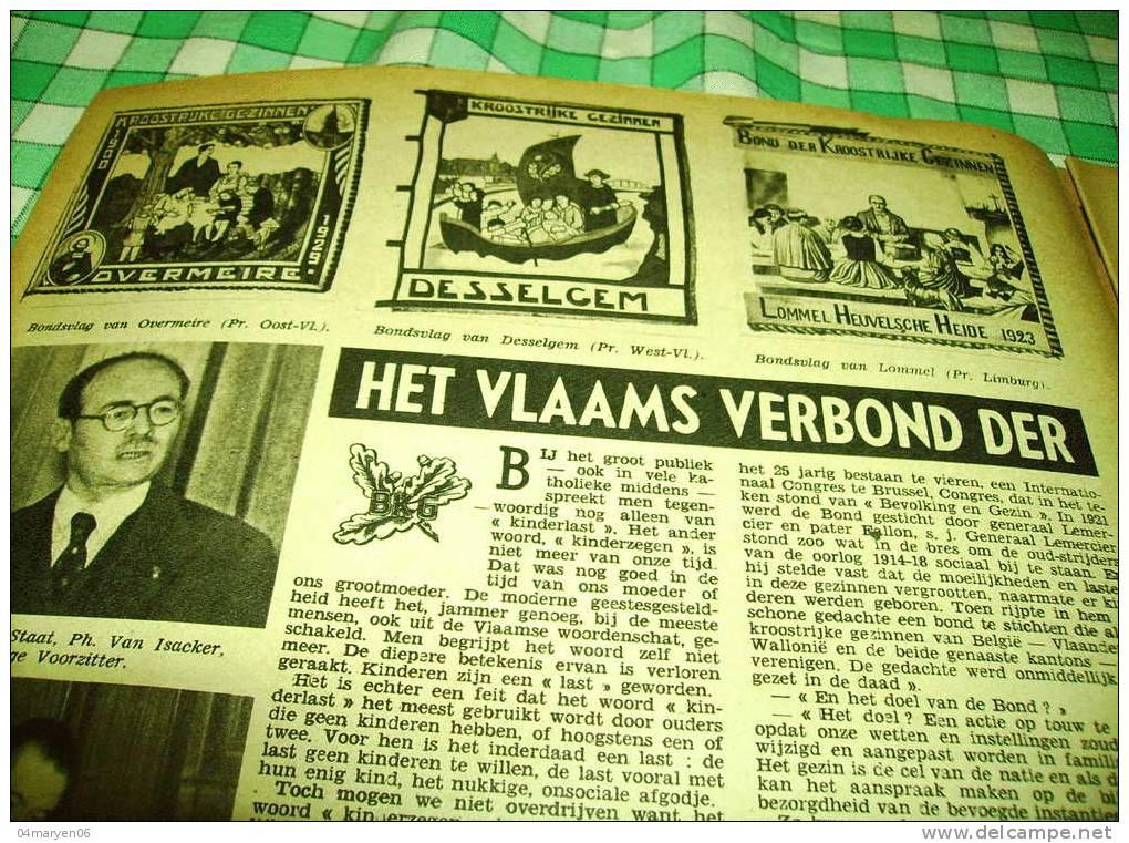 -**HET VLAAMS VERBOND DER KROOSTRIJKE GEZINNEN**.-ONS VOLK  WEEKBLAD -9-11-1947 - Néerlandais