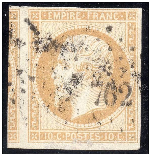 NAPOLEON  N° 13b  I JAUNE CITRON PC 762 CHASSIGNY (HTE MARNE) SIGNE - 1853-1860 Napoléon III