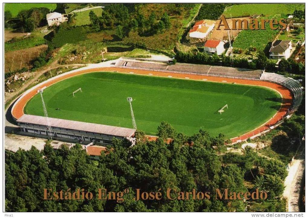 ESTÁDIO ENG.JOSÉ CARLOS MACEDO-F.C. AMARES.--PORTUGAL - Calcio