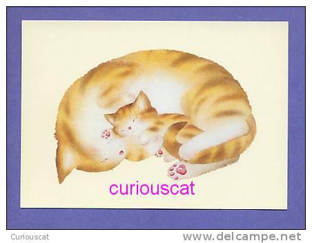 POSTCARD PRINT Of PAINTING  LES CHATS THE CATS  DIE KATZEN  By  YOKO IMOTO  CHAT KATZE GATO CAT KAT - Cats
