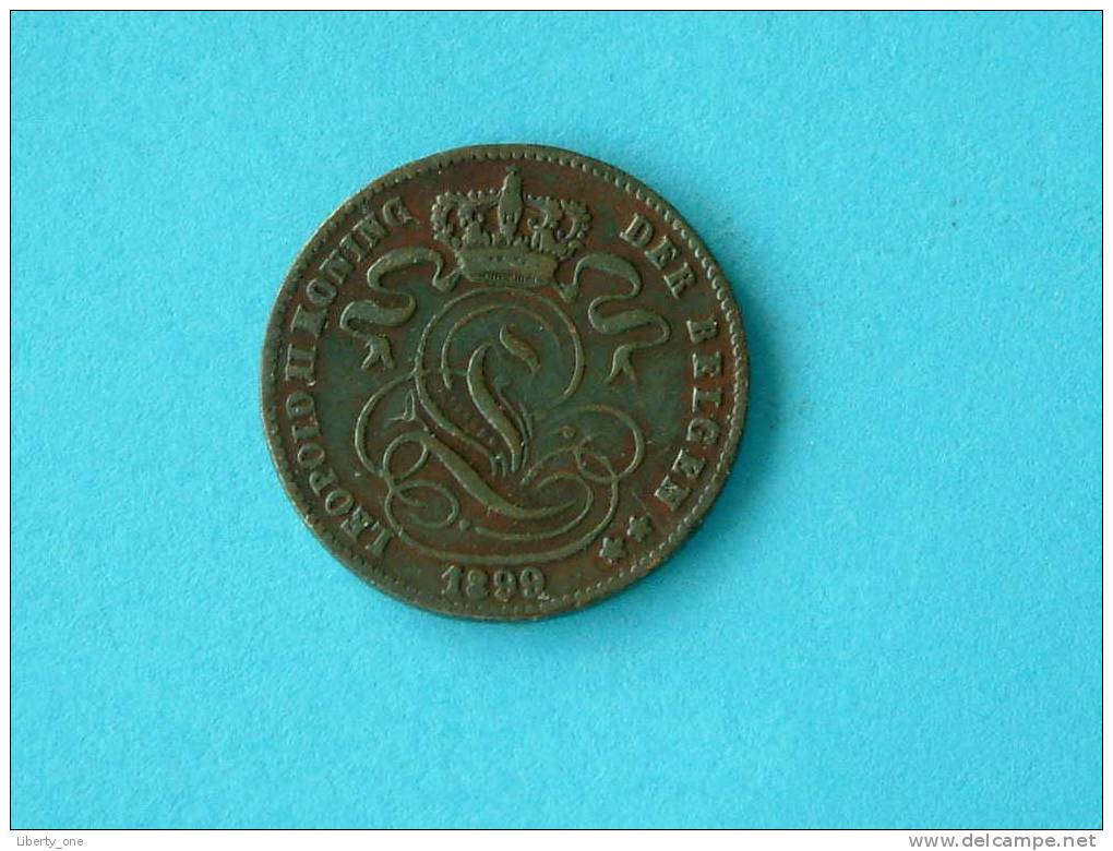 1899 VL - 1 CENT. / Morin 229 ( Photo For Details ) !! - 1865-1909: Leopold II
