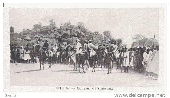 N'DELLE COURSE DE CHEVAUX (CAVALIERS ET BELLE ANIMATION) - Centrafricaine (République)