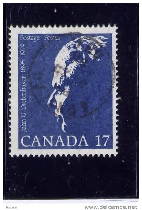 CANADA 1980, USED # 859, JOHN DIEFENBAKER, LOT OF 40 USED.   WYSIWYG - 1952-.... Règne D'Elizabeth II