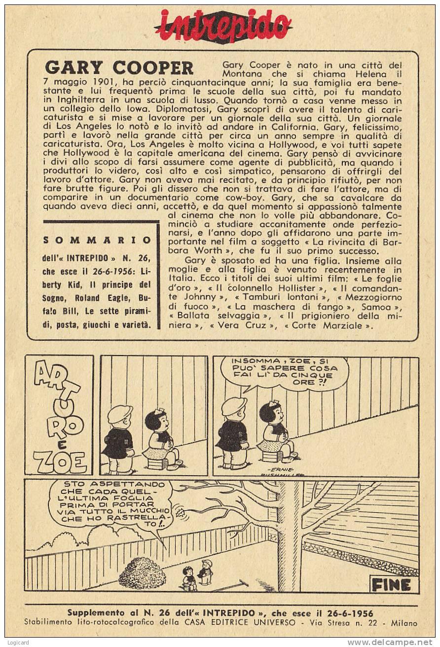 "GARY COOPER INSERTO ""INTREPIDO"" 1956 - Unclassified"