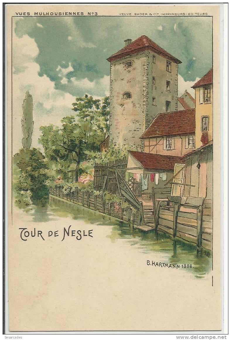 TOUR DE NESLE - Vues Mulhousienne - B.Hartmann 1898 - Mulhouse