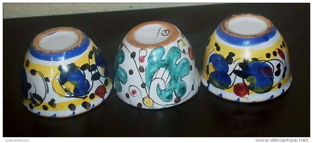 Deruta Arabesco Eggcups - Coquetiers - Eierdopjes - DI 1347 - Deruta (ITA)