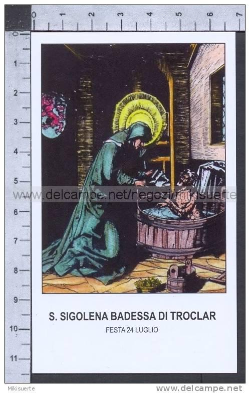 Xsa-74-75 S. San SIGOLENA BADESSA DI TROCLAR SIGOLENE Santino Holy Card - Religión & Esoterismo