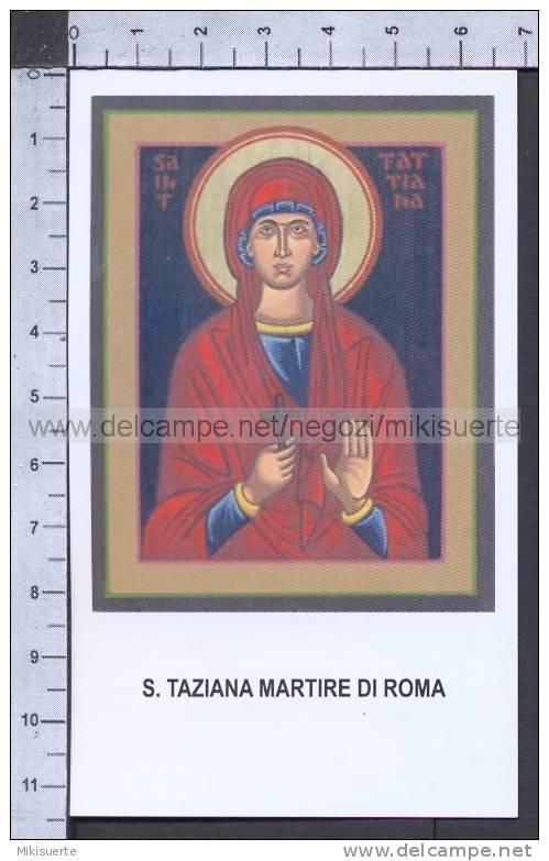 Xsa-75-61 S. Santa TAZIANA MARTIRE DI ROMA Santino Holy Card - Religión & Esoterismo