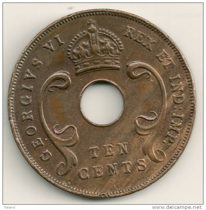 East Africa  10 Cents  KM#26.1  1941 I - British Colony
