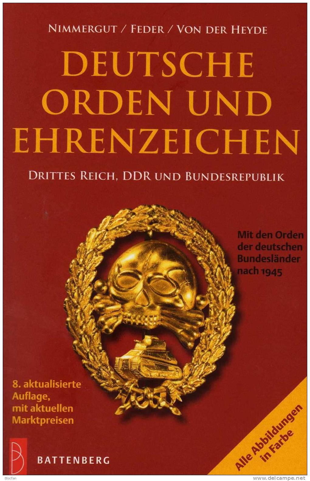 Deutsche Orden Katalog 2011 Neu 20€ Ehrenzeichen Vom 3.Reich DDR BRD Berlin Baden Bayern Saar Sachsen Catalog Of Germany - Lexiques