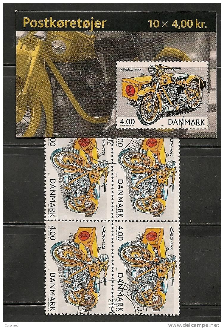 DENMARK -VF 2002 CANCELLED With First Day  MOTOS Complete CARNET - Yvert # C1315 - 10 Stamps - Markenheftchen