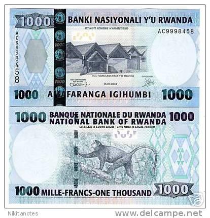 2004 Rwanda 1000 Francs Note P.31 UNC - Ruanda-Urundi