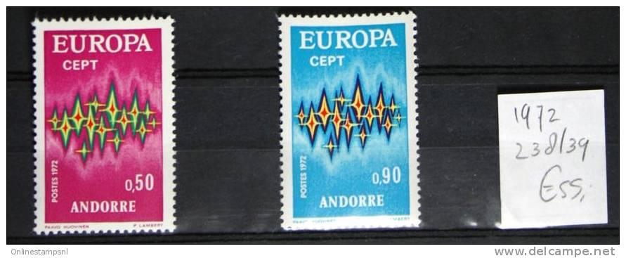 French Andorra Europe / Cept 1972, MNH/postfris - Französisch Andorra